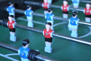 table football in games room at Notgrove