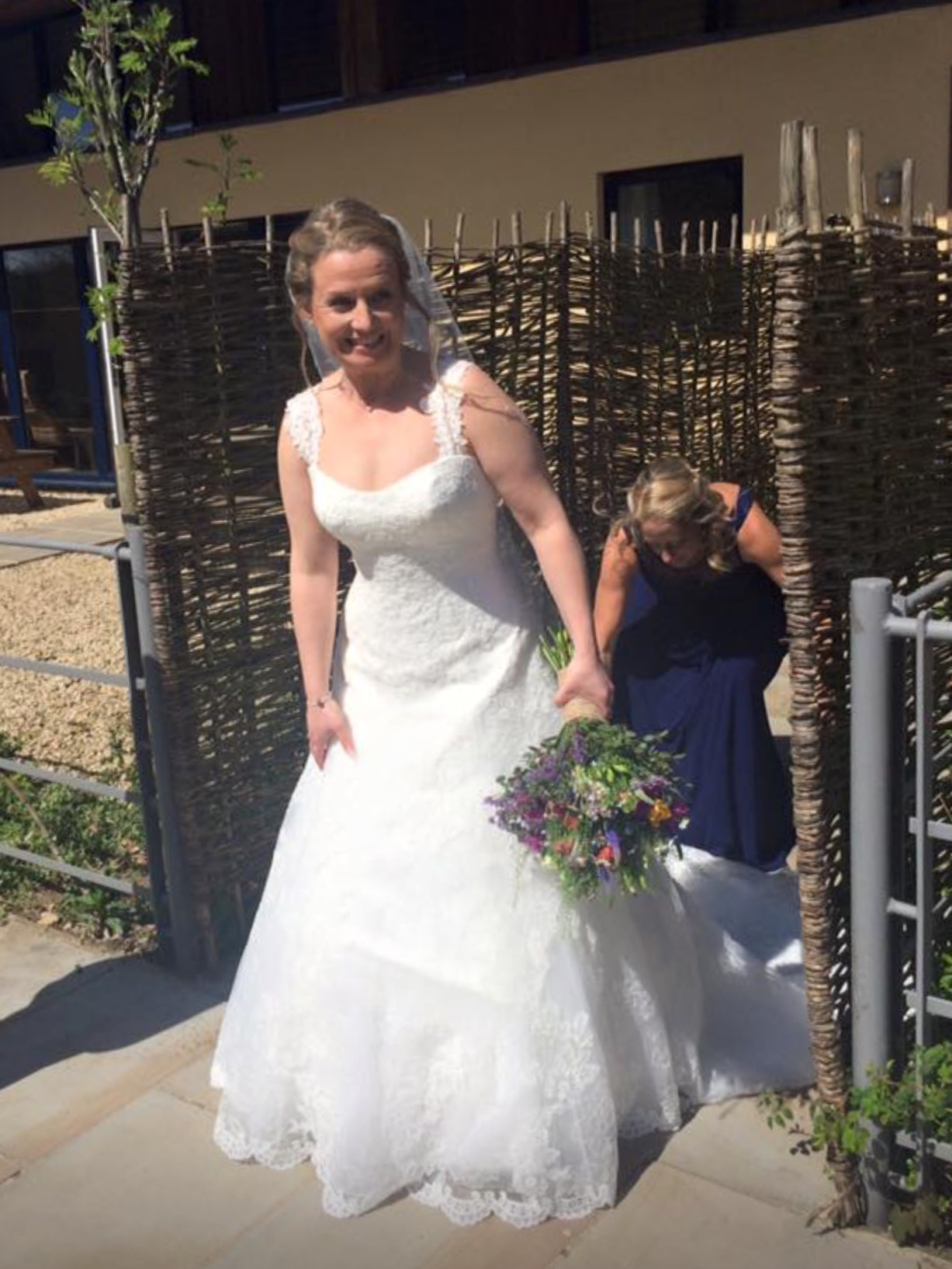 Bride Leaving Hazelnut Barn